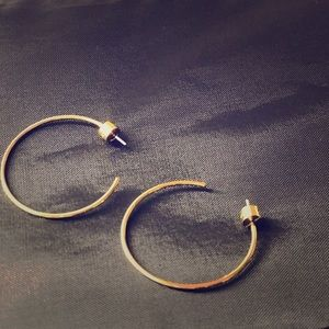Mk earrings gold barely worn